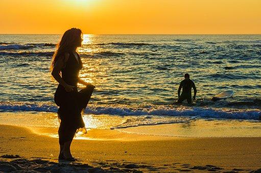 Sun, Sunset, Sky, Water, Summer, Sea, Landscape, Italy