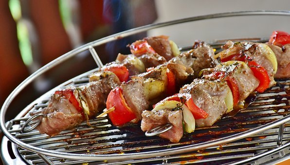 Meat, Meat Skewer, Barbecue, Summer, Benefit From