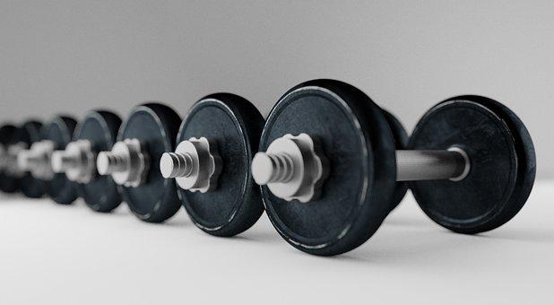 Dumbell, Barbell, Bodybuilding, Equipment, Fitness