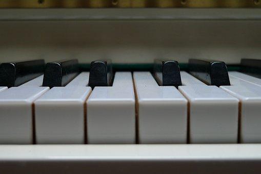 Piano, Music, Key, Black, White