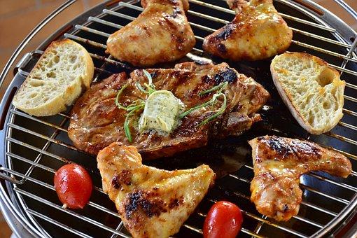 Meat, Pork Steak, Chicken, Barbecue, Summer