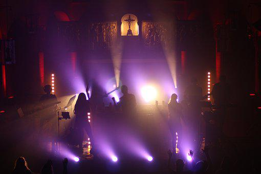 Praise, Worship, Pray, Church, Music, Band, Light Show