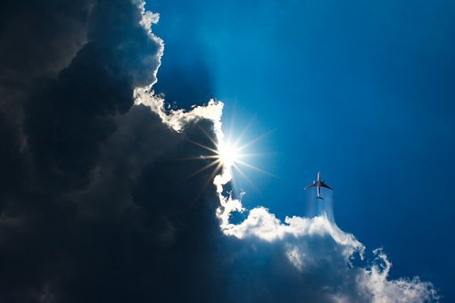 Clouds, Aircraft, Sky, Aviation, Weather, Lighting