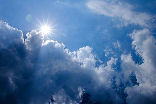 Clouds, Sun, Sky, Nature, Mood, Sunburst, Rays, Blue