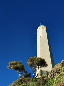 Lighthouse, Cap, Ferrat, France, Riviera, French, Coast