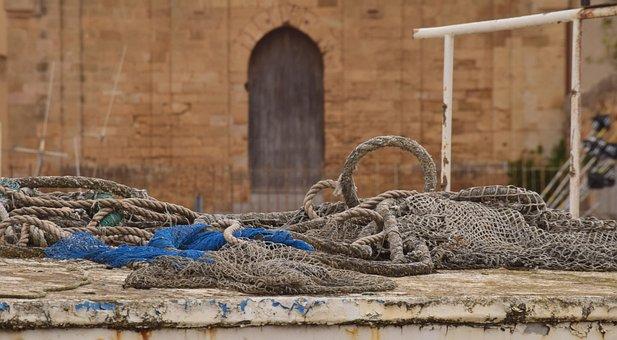 Web, Fishing, Fishing Net, Dry Nets, Port, Coast