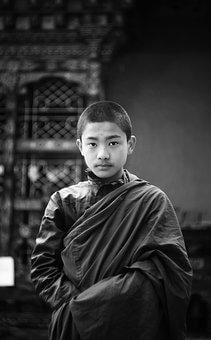 Buddhist, Monk, Child, Bhutan, Buddhism, Culture
