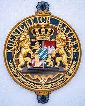 Coat Of Arms, Bavaria, Emblem, Symbol, Decoration, Gold