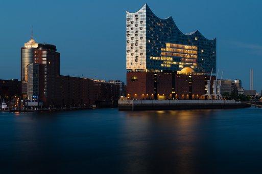 Harbour City, Hanseatic City, Hamburg Port, Elbe