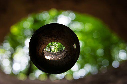Cave, Cave Entrance, Glass Ball, Eye, Photo Sphere