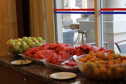 Apples, Watermelon, Apricots, Fruit, Food, Restaurant