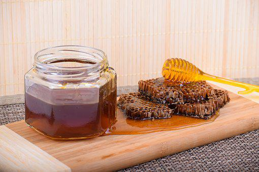 Honey, Honeycomb, Food, Healthy, Organic, Table, Raw