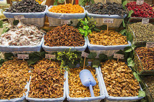 Dried Fruits And Nuts, Fruit, Snack, Food, Walnut