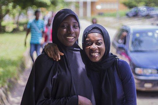 Hijab, People, Islam, Girls, Friendship, Portrait