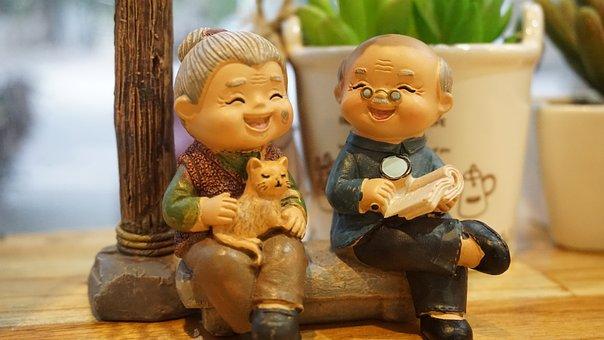 Grandparents, Old, Talking, Together, Love, Grandmother