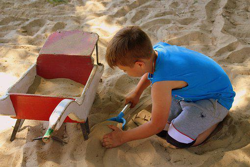 Boy, Child, Fun, Sand, A Person, Hands, Childhood