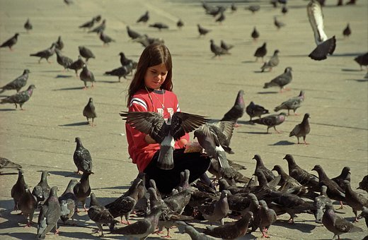 Girl, Bird, Happines, Venezia