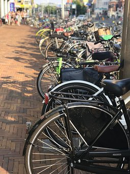 Bicycles, Holland, Scheveningen, Cycling, Bike