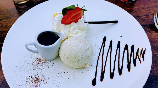 Ice, Dessert, Ice Cream, Strawberry, Chocolate
