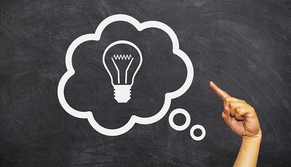 Blackboard, Idea, Bubble, Business, Creativity, Black