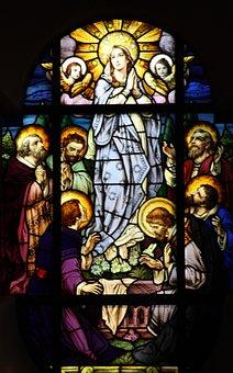 Church Window, Mother Of God, Maria