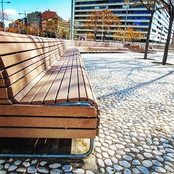 Bank, Rest, Park, Wood, Peaceful, Peace, Corner