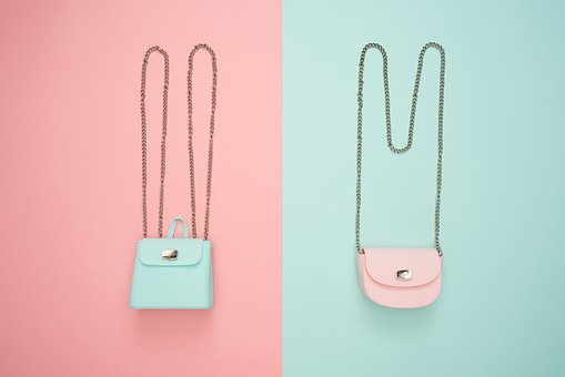 Fashion, Purses, Bags, Style, Pastel, Blue, Pink