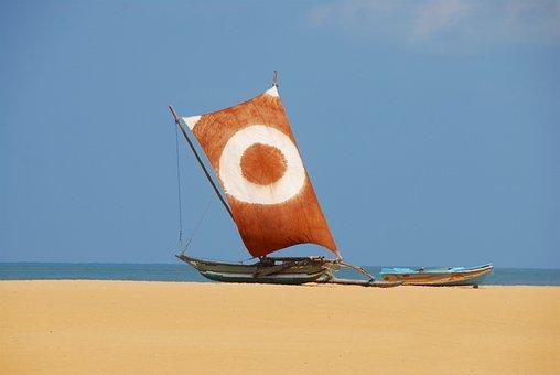 Boat, Fishing Boat, Sail, Beach, Sea, Sailboat