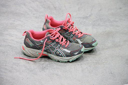 Sneakers, Pair, Shoes, Sports Shoes, Colorful, Sport