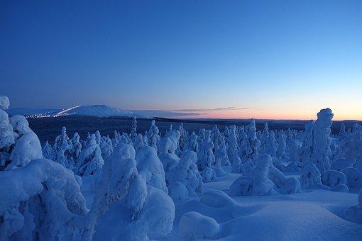Snow, Winter Landscape, äkäslompolo, Landscape, Winter