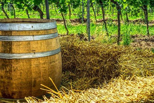 Wine Barrel, Straw, Straw Bales, Seating Area, Romantic