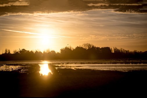 Saint-gilles-cross-of-life, Givrand, Sunset, France