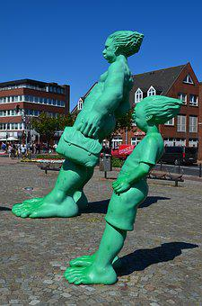 Sylt, Westerland, Figures, Storm Figures, Green