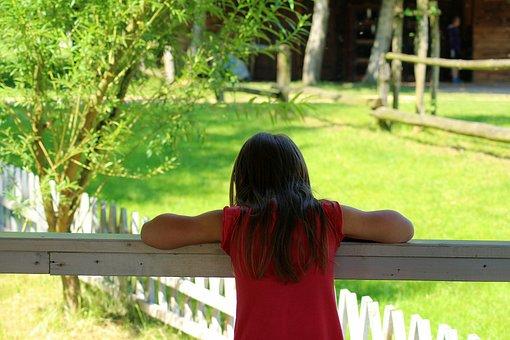 The Little Girl, Zapatrzenie, Child, Hair, A Person