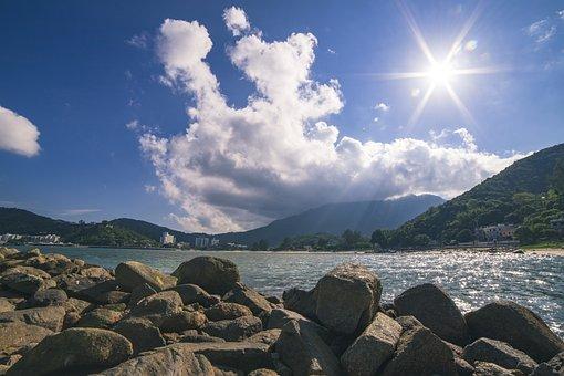 Beach, Sunny, Sea, Hai Bian, Sky, The Waves, Sand Beach