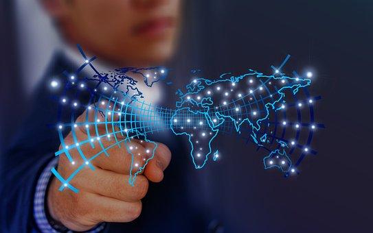 Technology, Developer, Continents, Touch, Finger