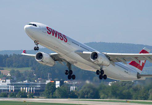 Airbus A330, Swiss Airlines, Airport Zurich, Jet