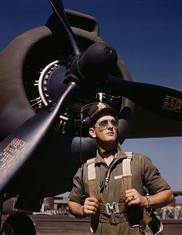 Pilot, Aircraft Pilots, Flyer, Propeller