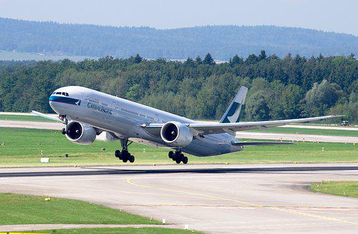 Boeing 777, Cathay Pacific, Airport Zurich, Jet