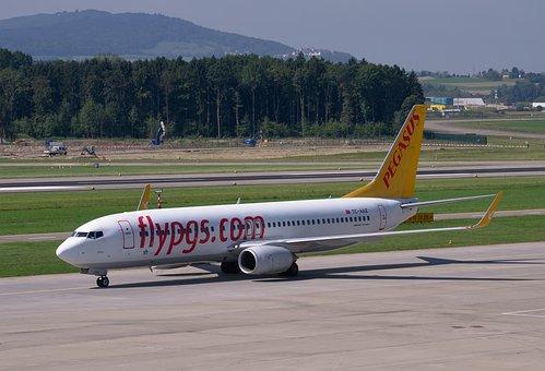 Aircraft, Boeing 737-800, Pegasus, Airport, Zurich, Zrh