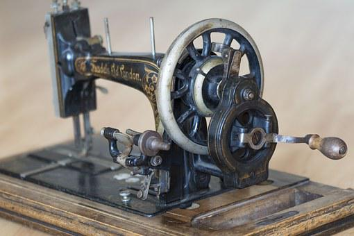 Sewing Machine, Sewing, Antique, Brocante, Old, Crafts