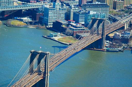 Brooklyn Bridge, New York, New York City, Usa, Brooklyn