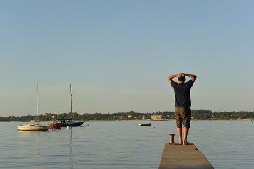 Bay, Boats, Fishing, Clear, Summer, Heat, Uruguay, Calm
