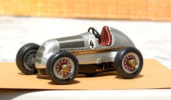 Toy, Car, Cart, Vintage, Flea Market, Collection, Child