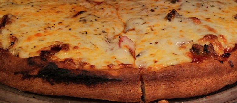 Pizza, Crust, Cheese, Mushroom, Bake, Closeup, Cuisine