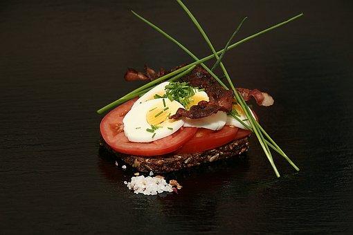 Open-faced Sandwiches, Rye Bread, Eggs, Dining, Taste