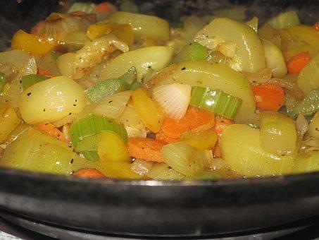 Food, Stir Fry, Vegetables, Cooking, Dinner, Onions