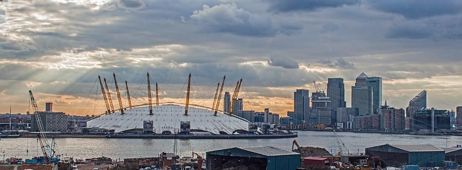 O2, Stadium, London, Dome, Architecture, River, Modern