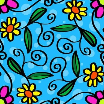 Abstract, Background, Pattern, Design, Paper, Flowers