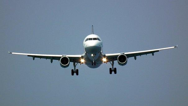 The Plane, Landing, Flight, Wings, Sky, Wing, Fly